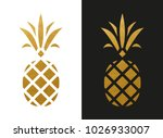 Golden Pineapple Shape