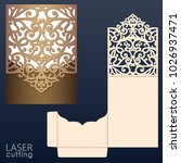 laser cut wedding invitation... | Shutterstock .eps vector #1026937471