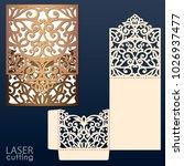 laser cut wedding invitation... | Shutterstock .eps vector #1026937477