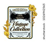 vintage retro vector frame with ... | Shutterstock .eps vector #1026942565