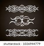 old cute romantic book ribbon... | Shutterstock .eps vector #1026944779