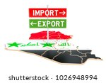 import and export in iraq... | Shutterstock . vector #1026948994