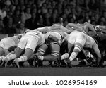 melee during a rugby match | Shutterstock . vector #1026954169