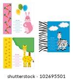 lovely animals birthday card ... | Shutterstock .eps vector #102695501
