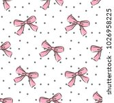 cute seamless pattern with... | Shutterstock .eps vector #1026958225