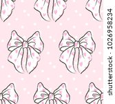 cute seamless pattern with... | Shutterstock .eps vector #1026958234