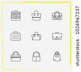 bags line icon set shoulder bag ... | Shutterstock .eps vector #1026967237