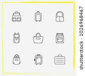 bags line icon set backpack ... | Shutterstock .eps vector #1026968467