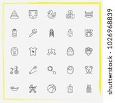 baby care line icon set baby... | Shutterstock .eps vector #1026968839