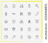 baby care line icon set baby... | Shutterstock .eps vector #1026968851