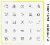 baby care line icon set beanbag ... | Shutterstock .eps vector #1026968881