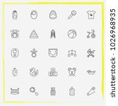 baby care line icon set crib ... | Shutterstock .eps vector #1026968935