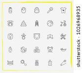baby care line icon set crib ... | Shutterstock .eps vector #1026968935