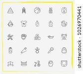 baby care line icon set handing ... | Shutterstock .eps vector #1026970441