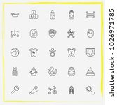baby care line icon set baby... | Shutterstock .eps vector #1026971785