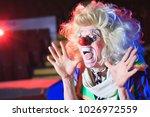 portrait of a clown in the... | Shutterstock . vector #1026972559