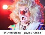 portrait of a clown in the... | Shutterstock . vector #1026972565