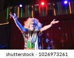 portrait of a clown in the... | Shutterstock . vector #1026973261