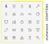 baby care line icon set rubber... | Shutterstock .eps vector #1026973381