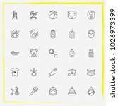 baby care line icon set child... | Shutterstock .eps vector #1026973399