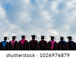 behind shooting of graduates... | Shutterstock . vector #1026976879