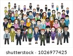 large group of people in the... | Shutterstock .eps vector #1026977425