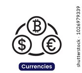 currencies icon. simple vector... | Shutterstock .eps vector #1026979339