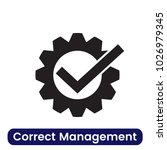 correct management icon. simple ... | Shutterstock .eps vector #1026979345