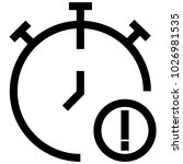 time watch clock icon | Shutterstock .eps vector #1026981535