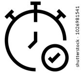 time watch clock icon | Shutterstock .eps vector #1026981541