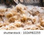 huge waves of muddy waters...   Shutterstock . vector #1026982255