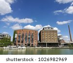 white vessel in the old harbour ... | Shutterstock . vector #1026982969