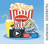 cinema concept poster template... | Shutterstock .eps vector #1026983761