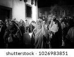Small photo of Braga, Portugal - April 1, 2010: Figurants in the Holly Week procession of Ecce Homo (High ISO photo)