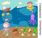 sea and ocean adventure... | Shutterstock .eps vector #1026984811