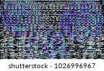 glitch background. computer... | Shutterstock . vector #1026996967