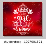 white vector calligraphy text ... | Shutterstock .eps vector #1027001521