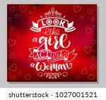 white vector calligraphy text ... | Shutterstock .eps vector #1027001521