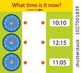 game riddle the children clock. ... | Shutterstock .eps vector #1027001839
