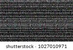 glitch background. computer... | Shutterstock . vector #1027010971