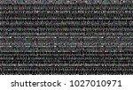 glitch background. computer... | Shutterstock . vector #1027010971