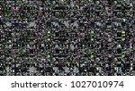 glitch background. computer... | Shutterstock . vector #1027010974