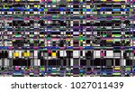 glitch background. computer... | Shutterstock . vector #1027011439