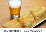 bar food  tray with typical... | Shutterstock . vector #1027013029