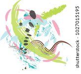 vector freehand colorful brush... | Shutterstock .eps vector #1027015195