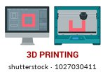 new generation of 3d printing... | Shutterstock . vector #1027030411