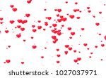 red and pink heart. valentine's ... | Shutterstock . vector #1027037971
