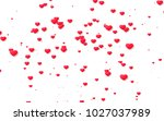 red and pink heart. valentine's ... | Shutterstock . vector #1027037989