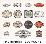 set of premium quality and... | Shutterstock .eps vector #102703841