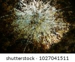 old piece of grimy metal with... | Shutterstock . vector #1027041511